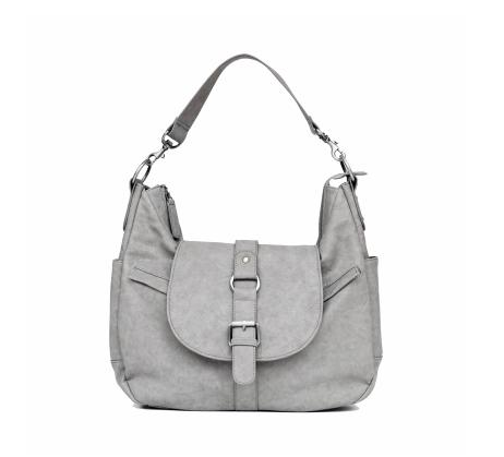 gray woman's camera bag