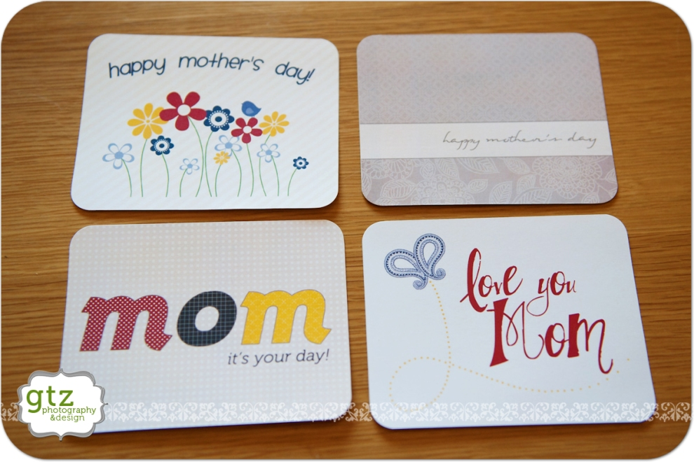 Printaable Mother's Day cards, front view