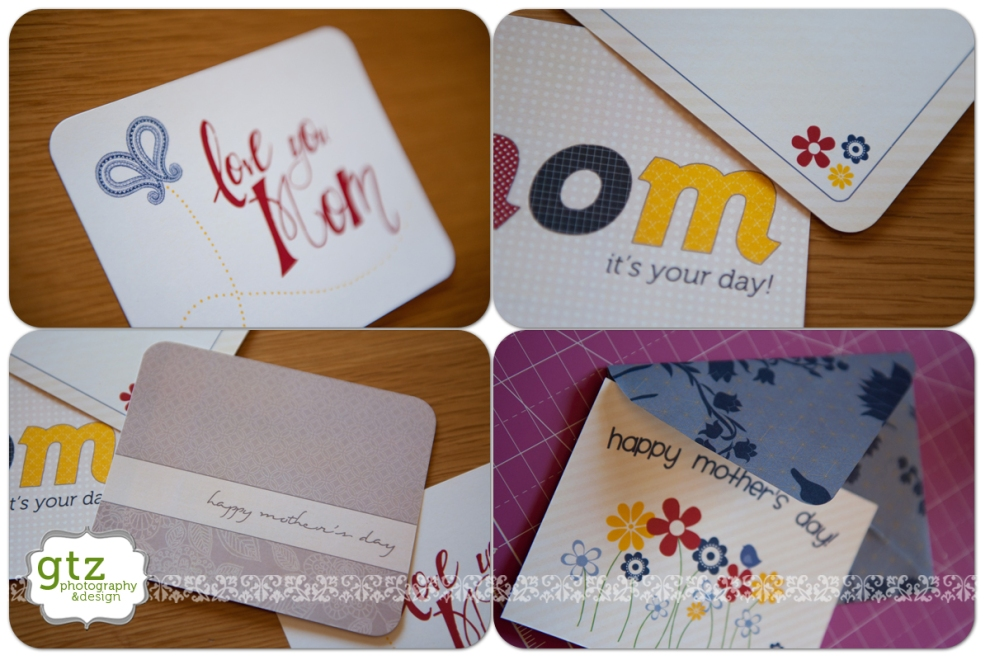 Printable Mother's Day cards, detail view