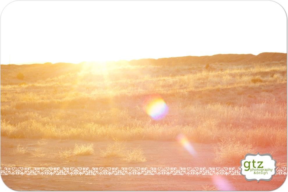 Sunset over Santa Fe field