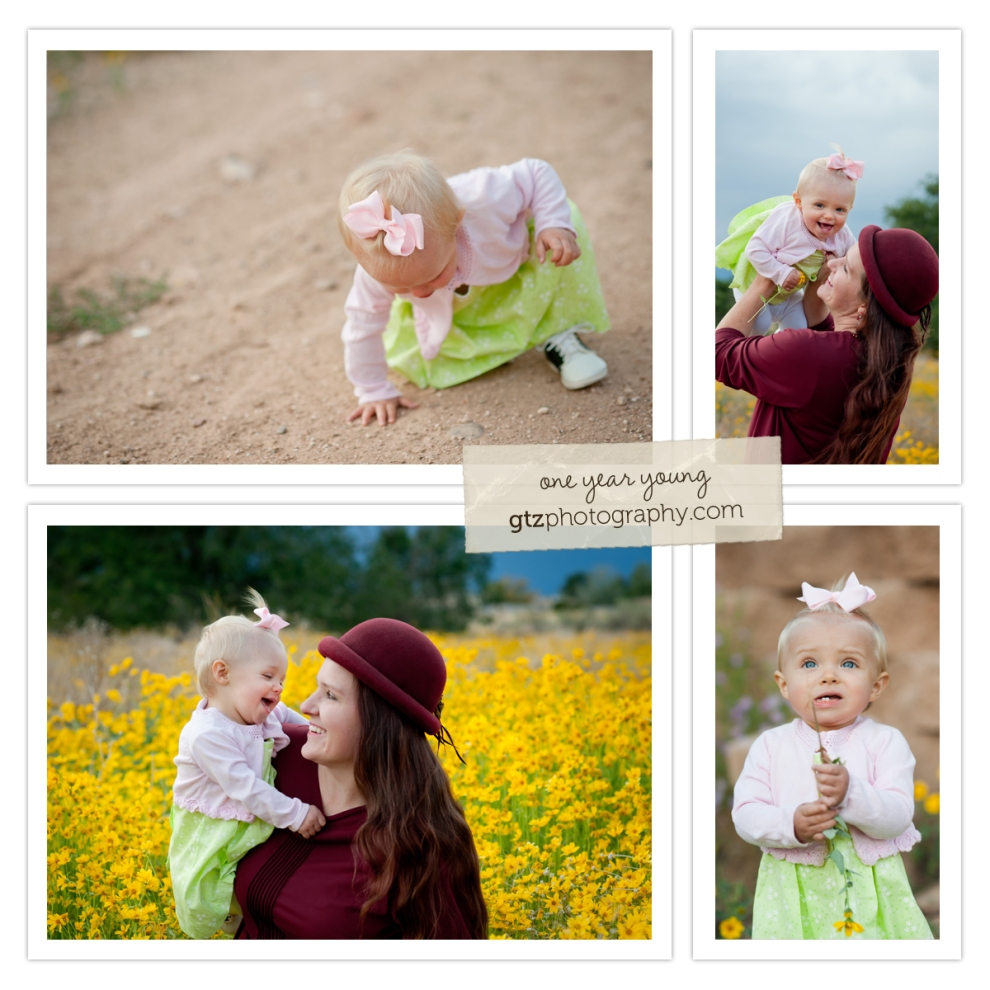 one year old baby girl with her mom