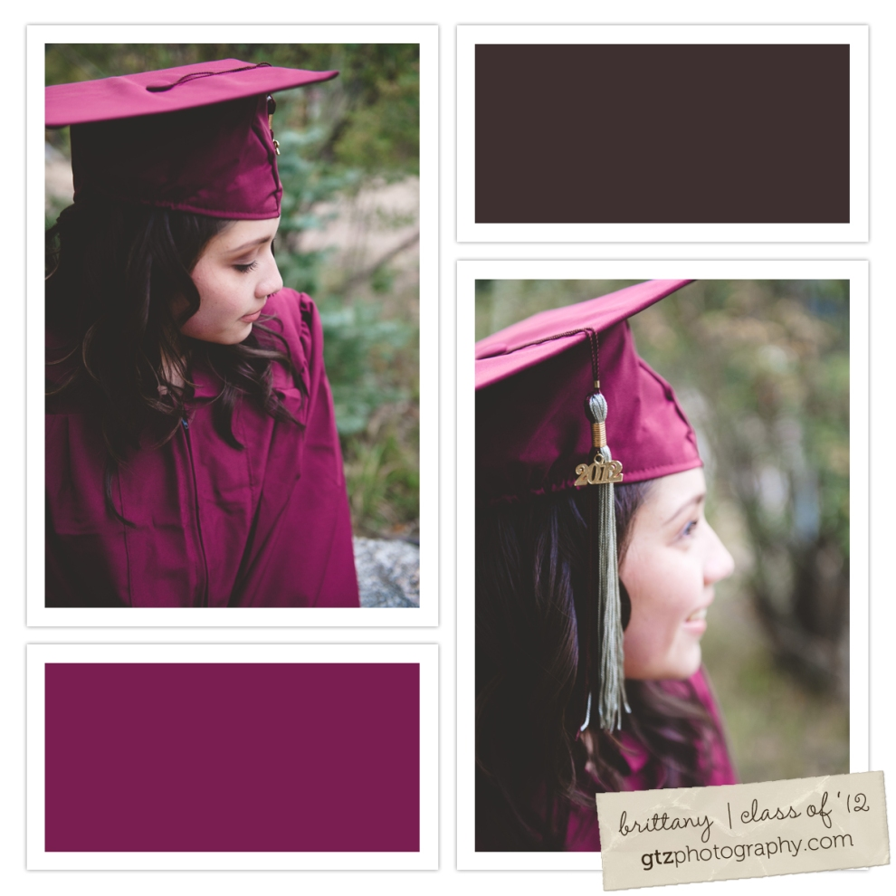 high school senior girl portraits cap and gown class of 2012