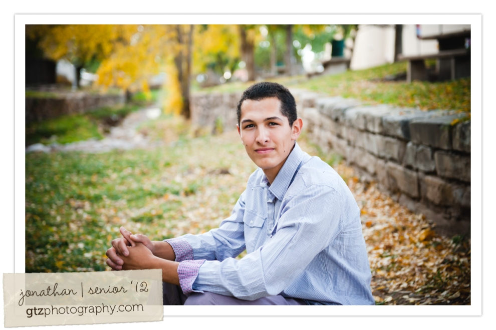 guy high school senior portrait, seated in santa fe riverbed, downtown santa fe, nm