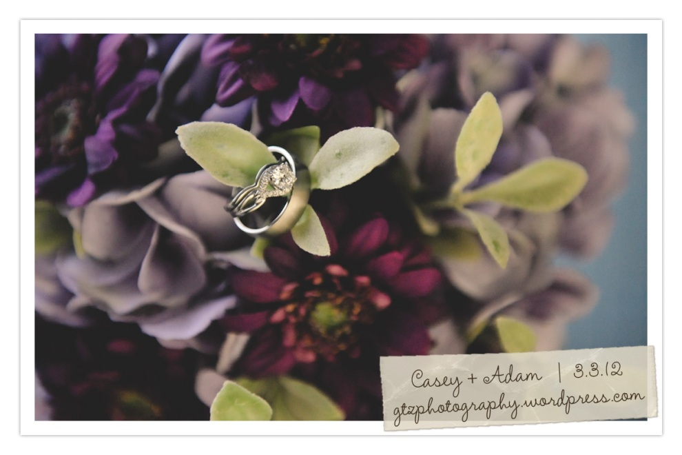 wedding ring and flowers