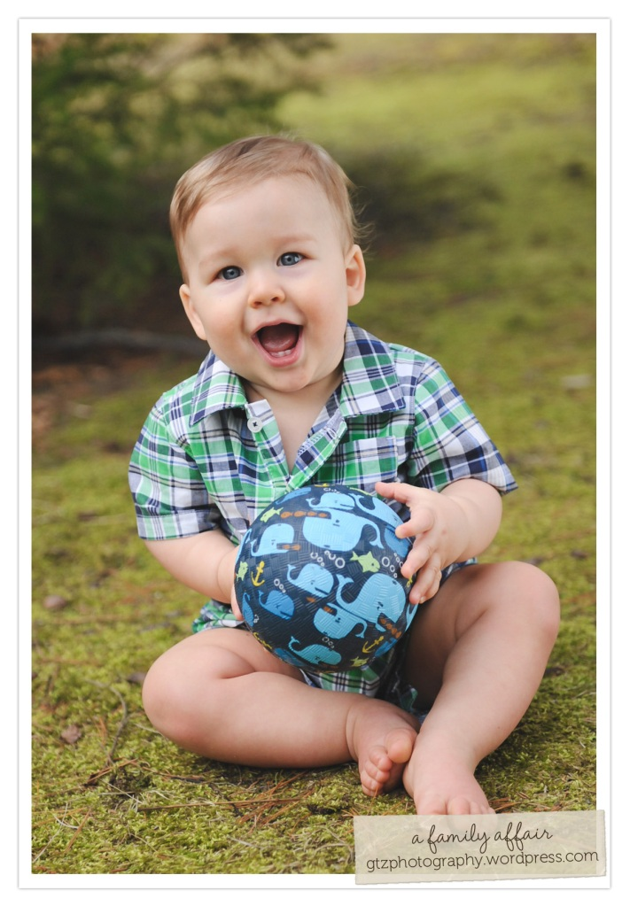 ten month old baby boy portrait